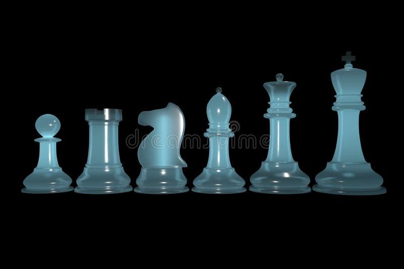 grupo de xadrez Semi-transparente imagens de stock