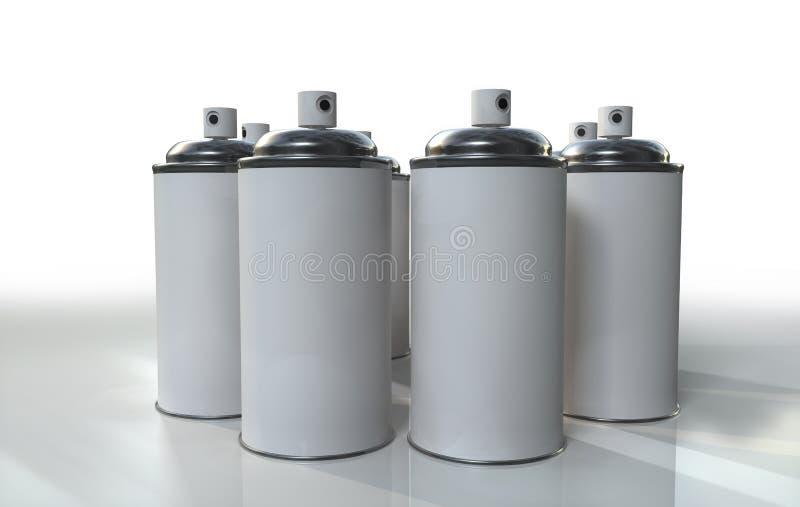 Grupo del aerosol ilustración del vector
