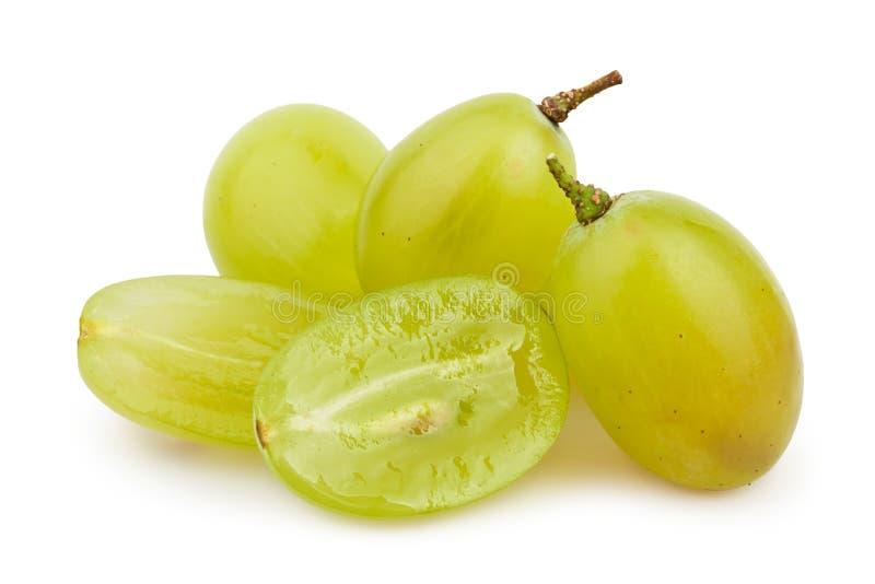 Grupo del corte de las uvas blancas imagen de archivo