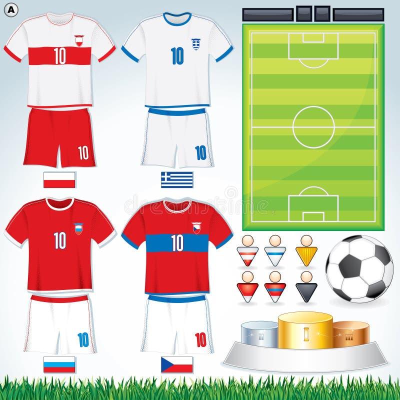 Grupo A del euro 2012 stock de ilustración