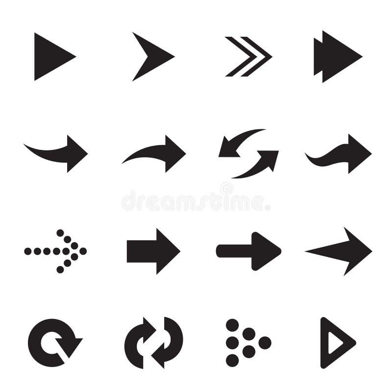 Grupo del vector de flecha stock de ilustración