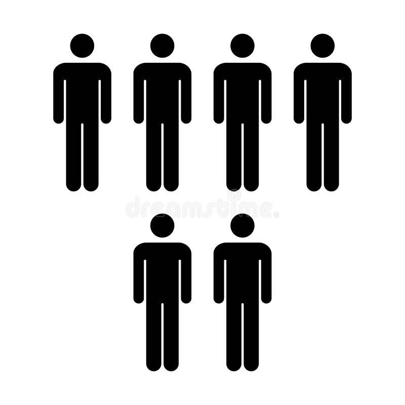 Grupo del vector del icono de la gente de ejemplo de Team Symbol Pictogram de los hombres libre illustration