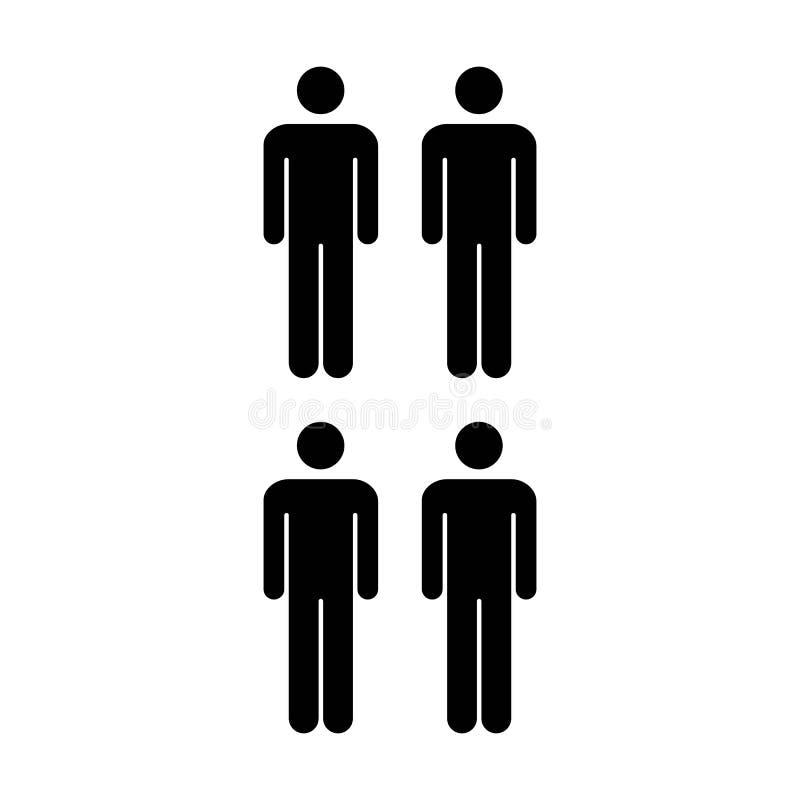Grupo del vector del icono de la gente de ejemplo de Team Symbol Pictogram de los hombres stock de ilustración