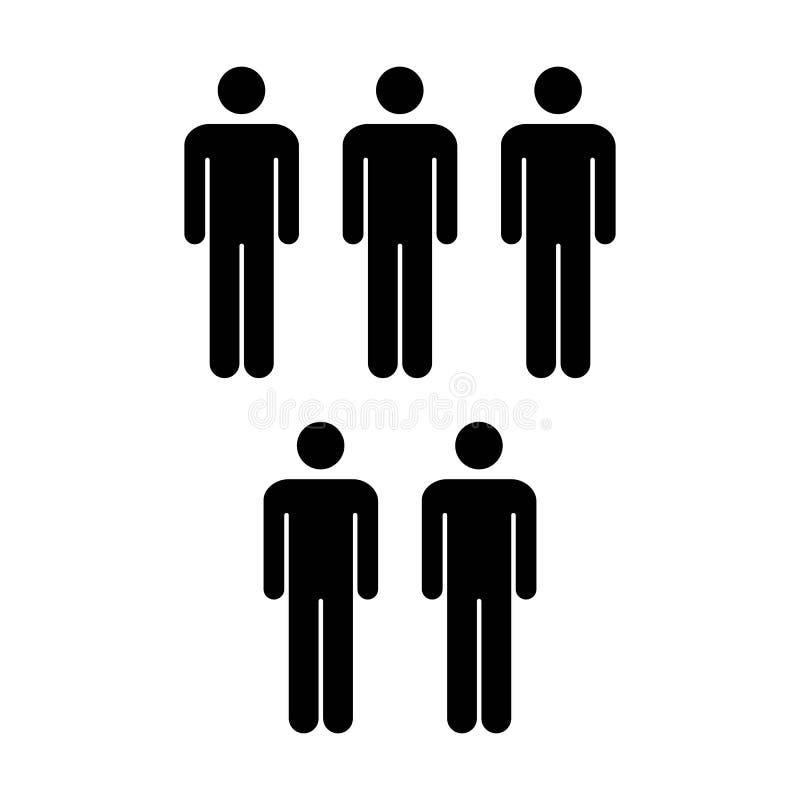 Grupo del vector del icono de la gente de ejemplo de Team Symbol Pictogram de los hombres ilustración del vector