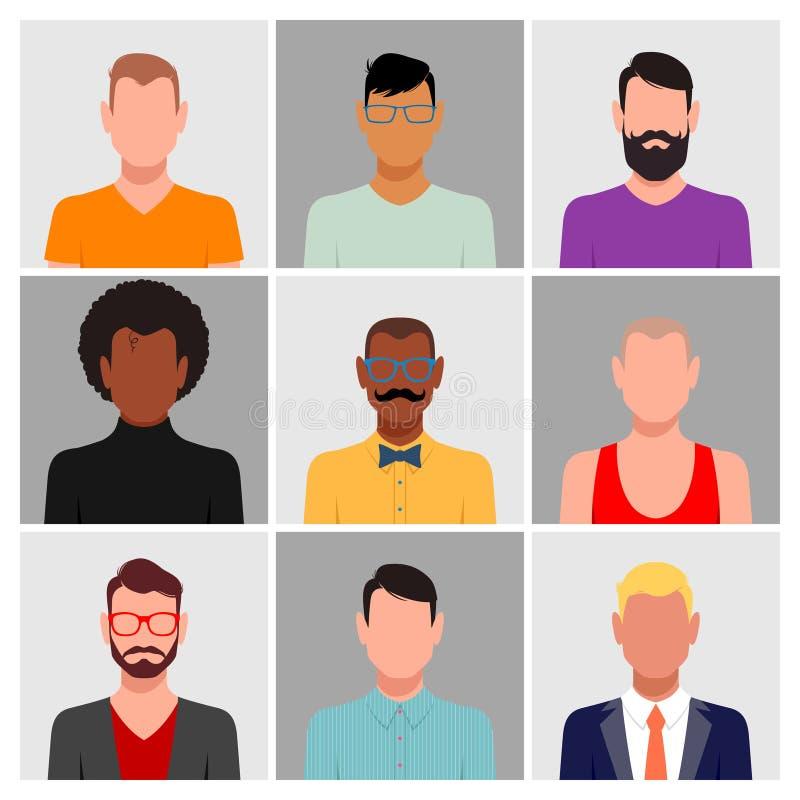 Grupo diverso do avatar dos povos ilustração royalty free