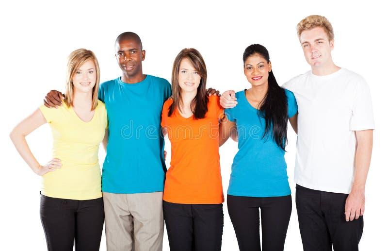 Grupo diverso dos amigos fotografia de stock