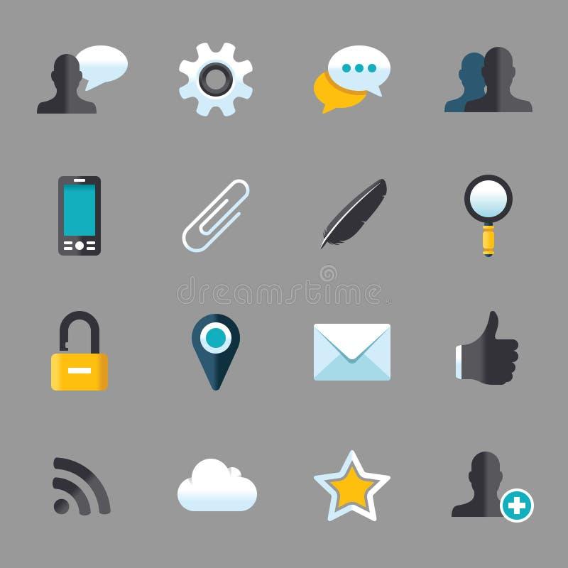 Grupo do ícone ilustração stock