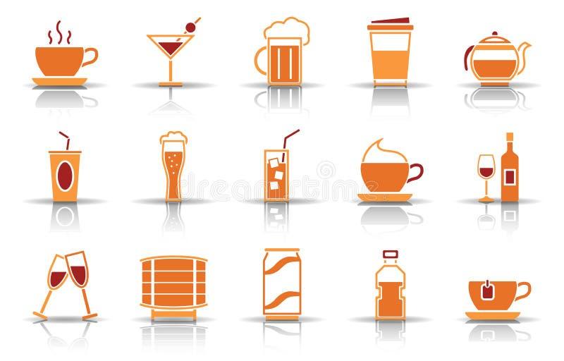 Grupo do ícone do alimento ilustração stock
