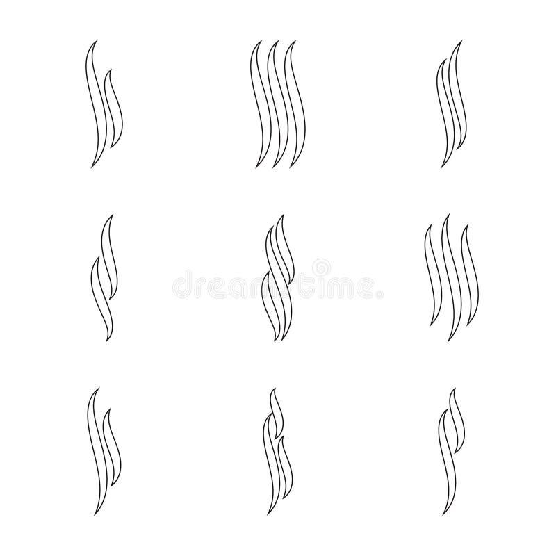 Grupo do ícone do aroma ilustração do vetor