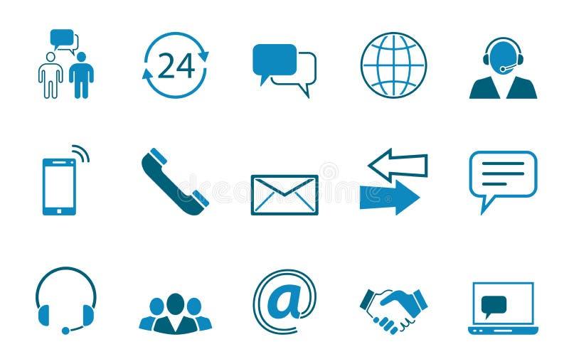 Grupo do ícone do contato ilustração royalty free