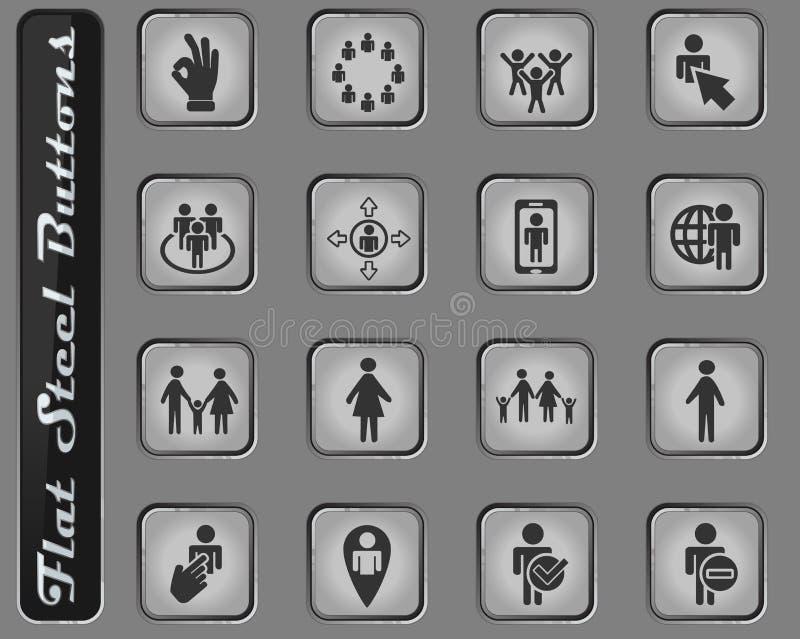 Grupo do ícone da comunidade ilustração royalty free