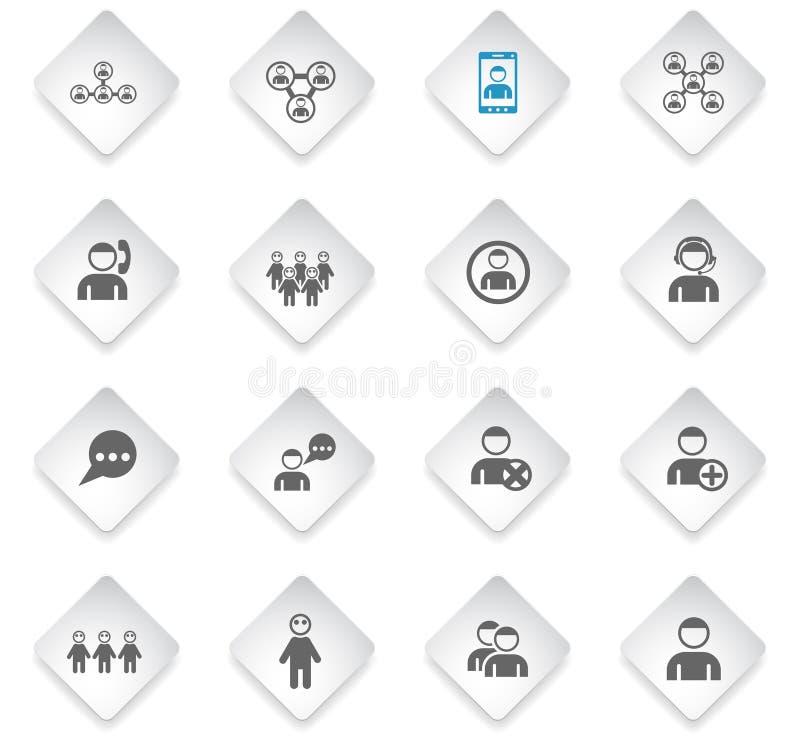 Grupo do ícone da comunidade ilustração stock