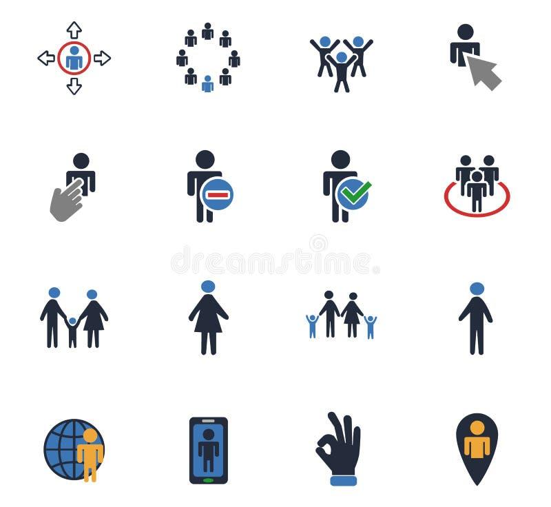 Grupo do ícone da comunidade ilustração do vetor
