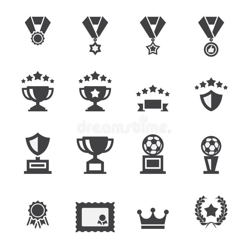 Grupo do ícone da concessão ilustração stock
