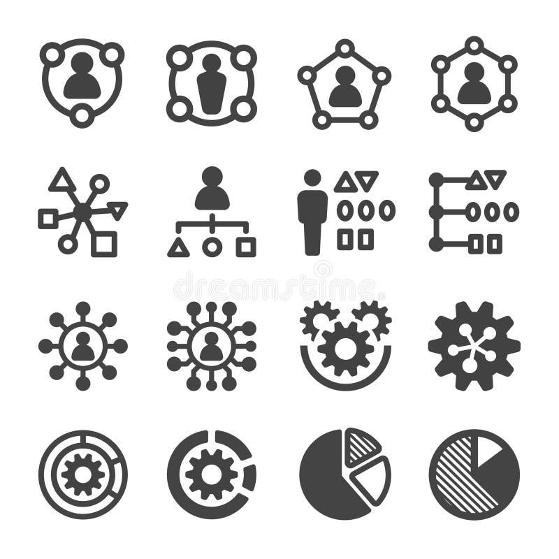 Grupo do ícone da habilidade ilustração royalty free