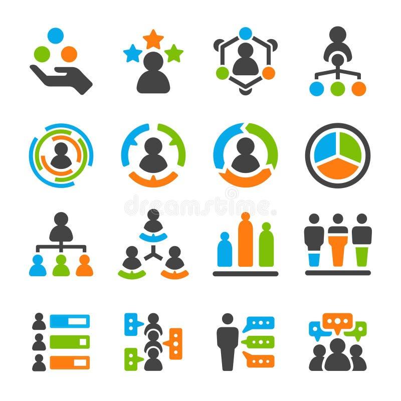 Grupo do ícone da habilidade da identidade ilustração do vetor