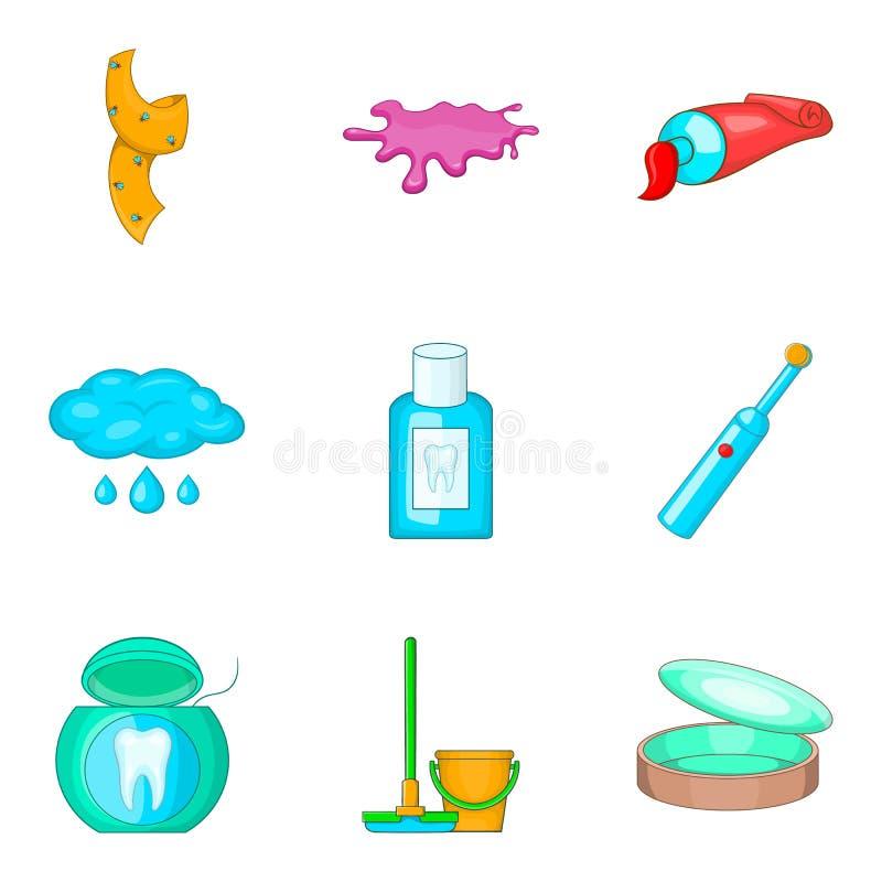 Grupo Do Icone Da Higiene Pessoal Da Casa Estilo Dos Desenhos