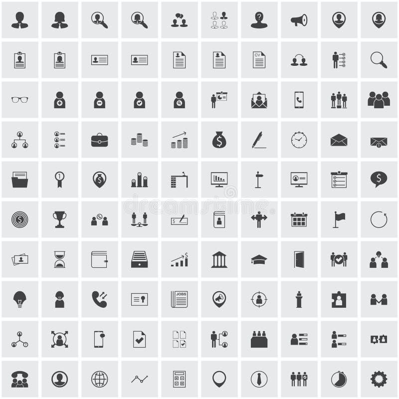 Grupo do ícone da hora fotografia de stock royalty free
