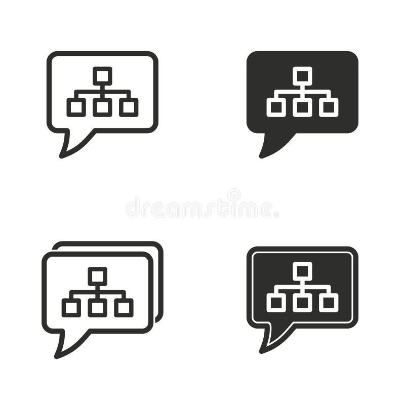 Grupo do ícone da interação de Digitas ilustração do vetor