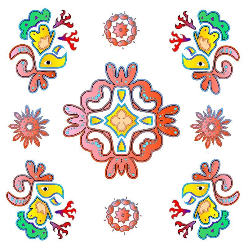 Grupo do ícone da tampa dos contos de fadas ilustração stock