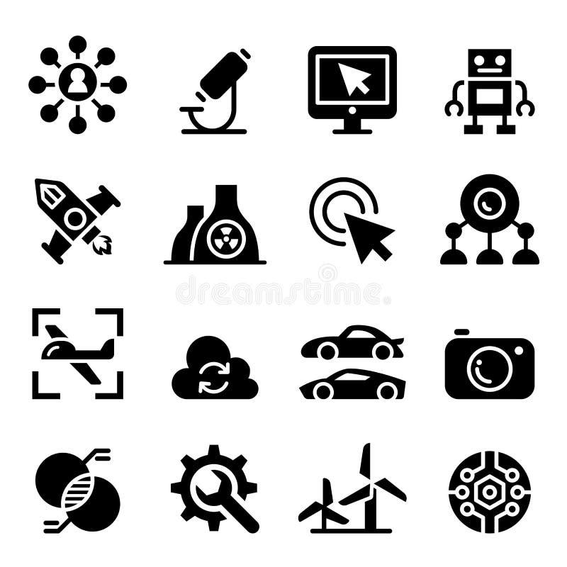 Grupo do ícone da tecnologia ilustração royalty free