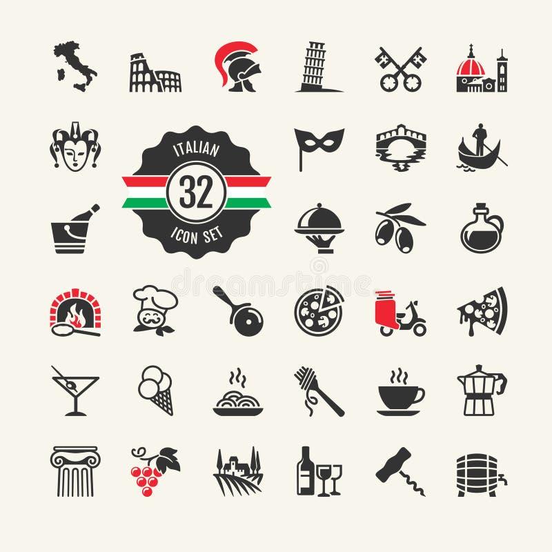 Grupo do ícone da Web de Itália. ilustração royalty free