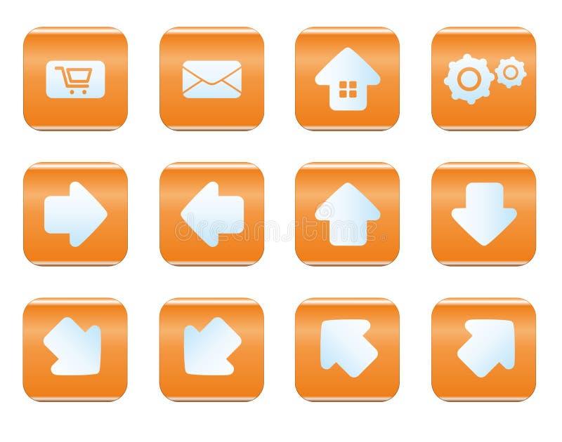 Grupo do ícone da Web e do Internet ilustração royalty free