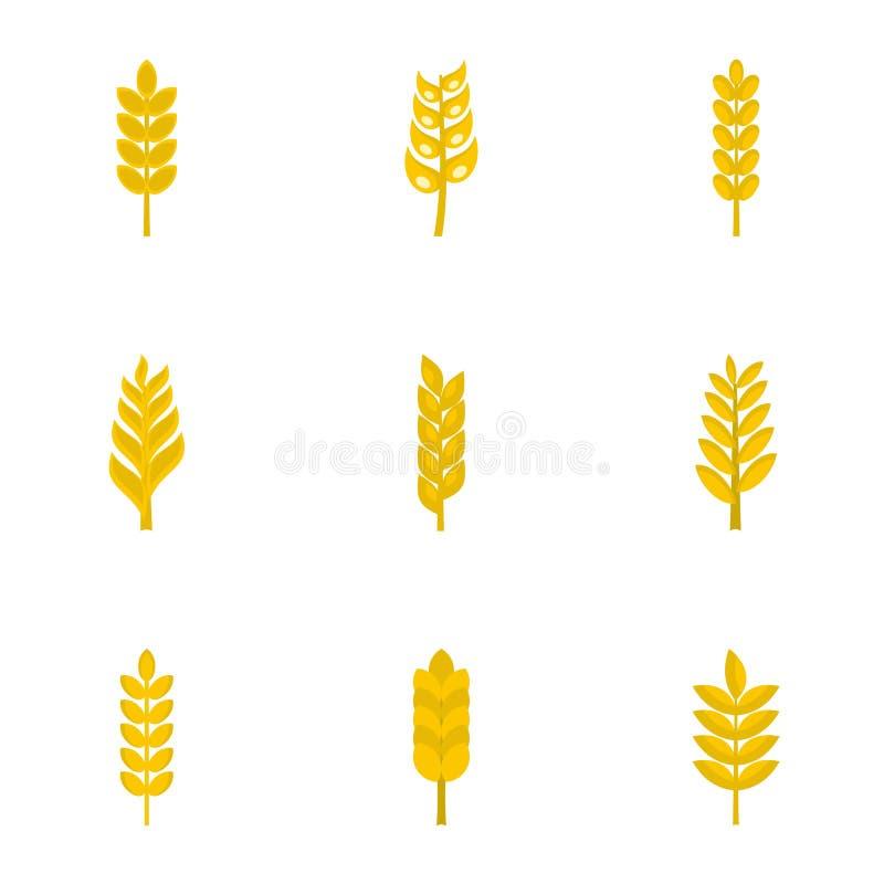 Grupo do ícone das grões, estilo liso ilustração do vetor