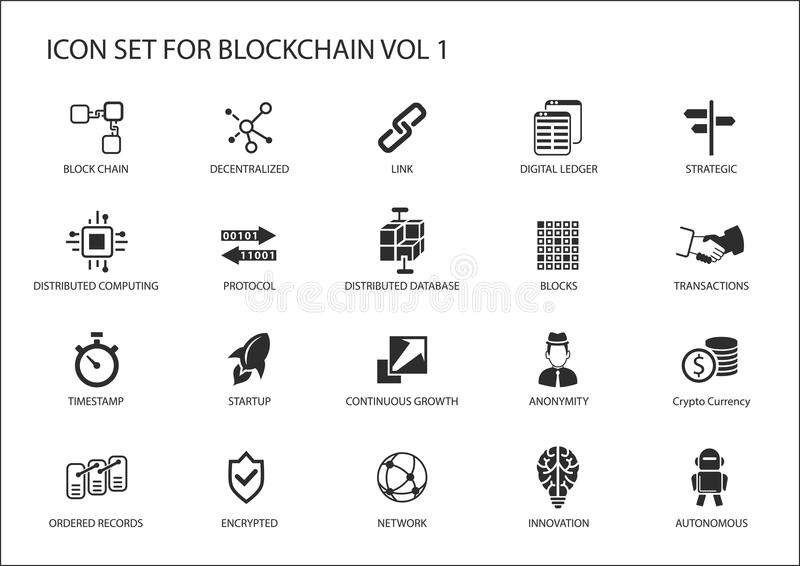 Grupo do ícone de Blockchain
