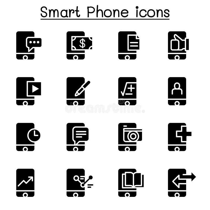 Grupo do ícone de Smartphone ilustração do vetor