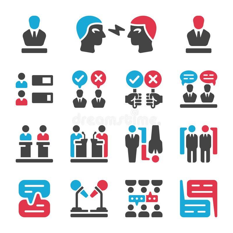Grupo do ícone do debate ilustração stock