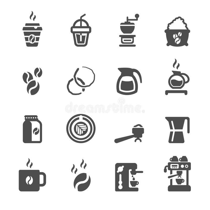 Grupo do ícone do café, vetor eps10 ilustração do vetor