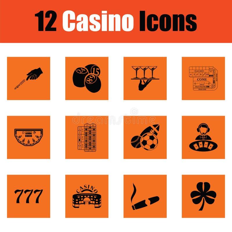 Grupo do ícone do casino ilustração royalty free