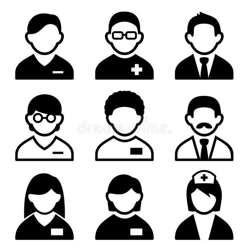 Grupo do ícone do doutor