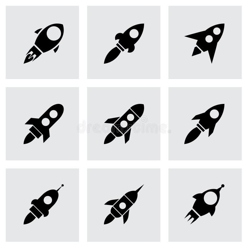 Grupo do ícone do foguete do vetor ilustração do vetor