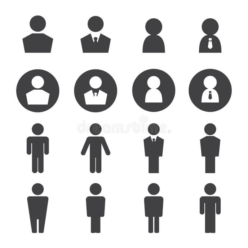 Grupo do ícone do homem ilustração do vetor