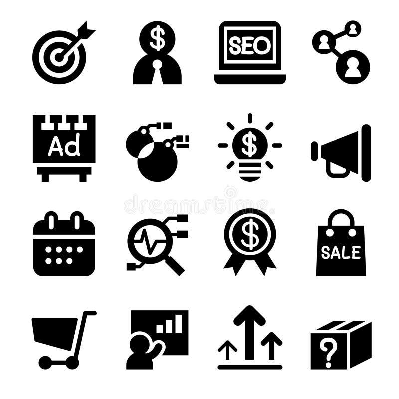 Grupo do ícone do mercado ilustração royalty free