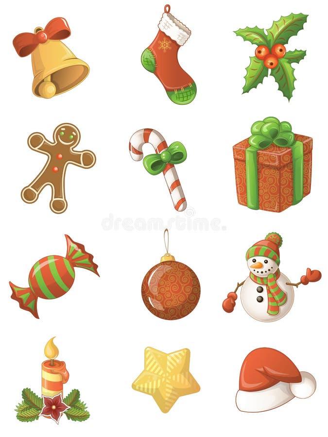 Grupo do ícone do Natal ilustração stock