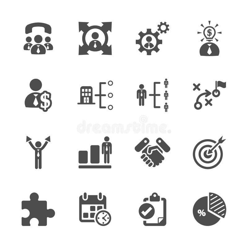 Grupo do ícone do negócio e da gestão, vetor eps10 ilustração royalty free