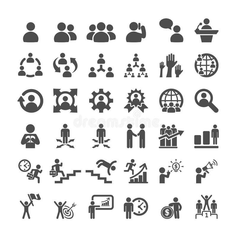 Grupo do ícone do negócio, vetor eps10 ilustração royalty free