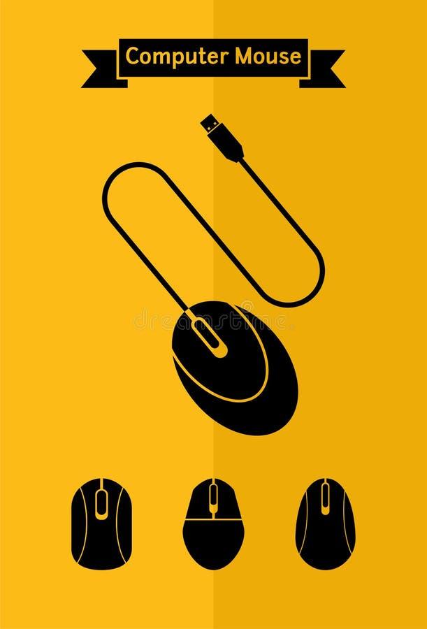 Grupo do ícone do rato do computador imagens de stock