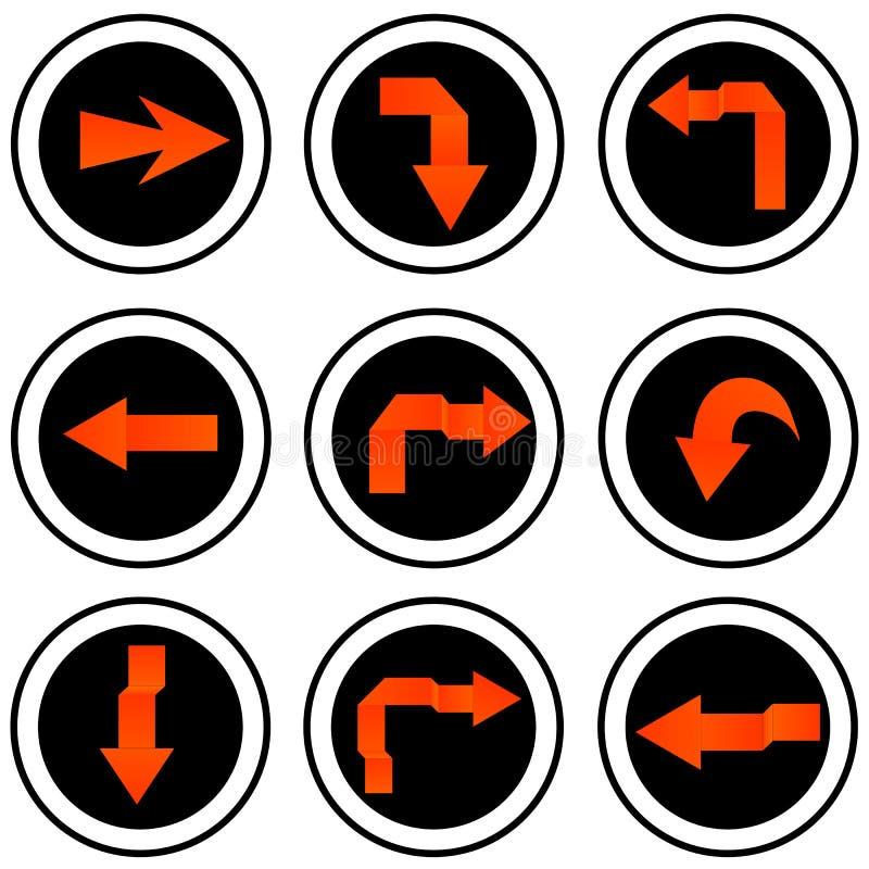 Grupo do ícone do sinal da seta. ilustração do vetor