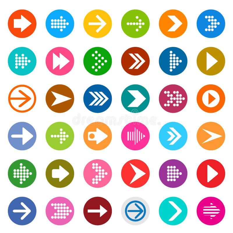 Grupo do ícone do sinal da seta ilustração royalty free