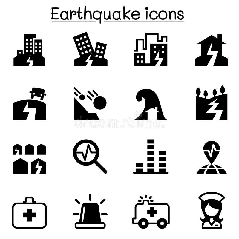 Grupo do ícone do terremoto