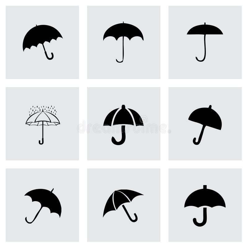 Grupo do ícone do umberlla do vetor ilustração do vetor