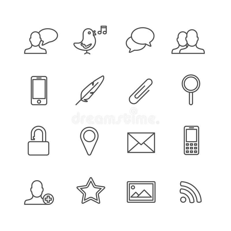 Grupo do ícone do vetor ilustração stock