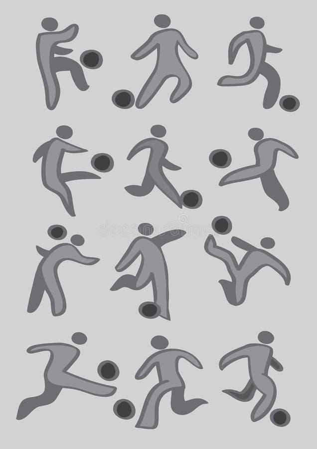 Grupo do ícone dos esportes do futebol ilustração do vetor
