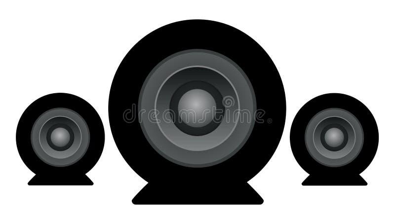 Grupo do ícone dos oradores do estúdio ilustração do vetor