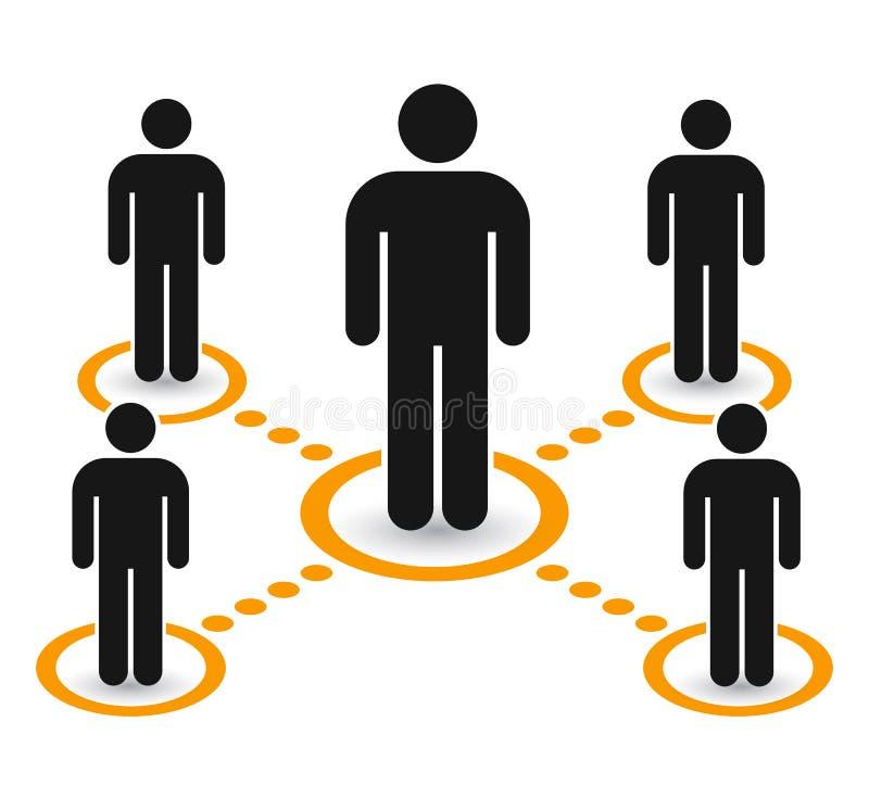 Grupo do ícone dos povos do grupo Trabalhos de equipa, pessoal, parceria - vetor ilustração stock