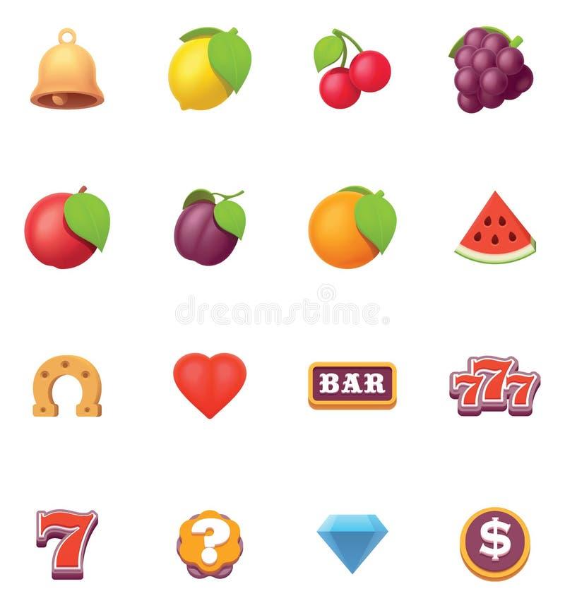 Grupo do ícone dos símbolos dos entalhes do vetor ilustração royalty free